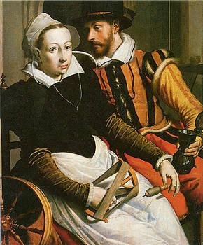 Pieter Pietersz - Man and Woman at a Spinning Wheel