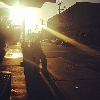 Man At The #busstop by Zarah Delrosario