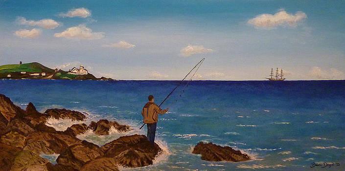 Man Fishing by Beata Dagiel