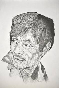 Man looking back by Glenn Calloway