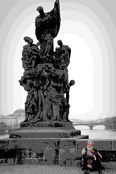 Man on Charles Bridge by Mary Barrett