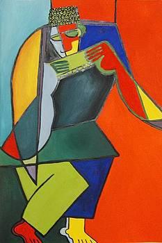 Man Playing Harmonica by Angelo Thomas