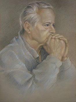 Man Praying study by Jennifer Soriano