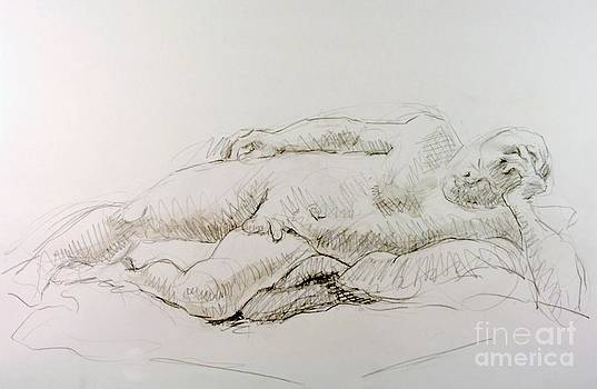 Man Reclining  by Andy Gordon