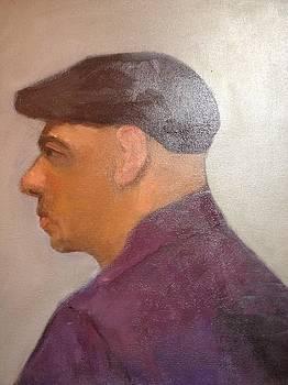 Man Wearing Cap by Joyce Colburn