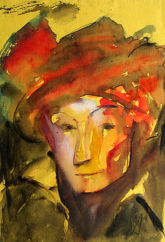 Man with the Red turban by Prince Babu