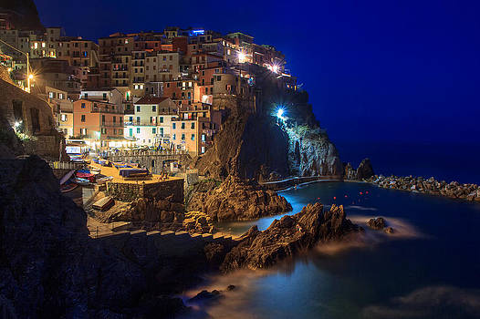 Manarola At Night by Rick Starbuck
