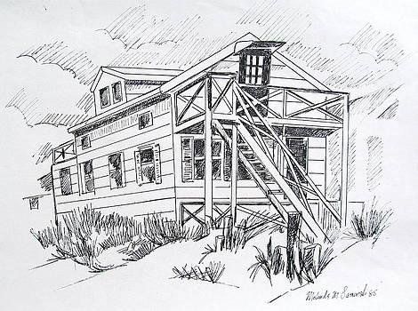 Manasquan Beach House Sketch by Melinda Saminski