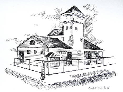 Manasquan Coast Guard Station by Melinda Saminski
