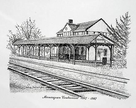 Manasquan Train Station by Melinda Saminski
