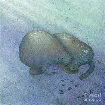 Manatees by Wayne Hardee