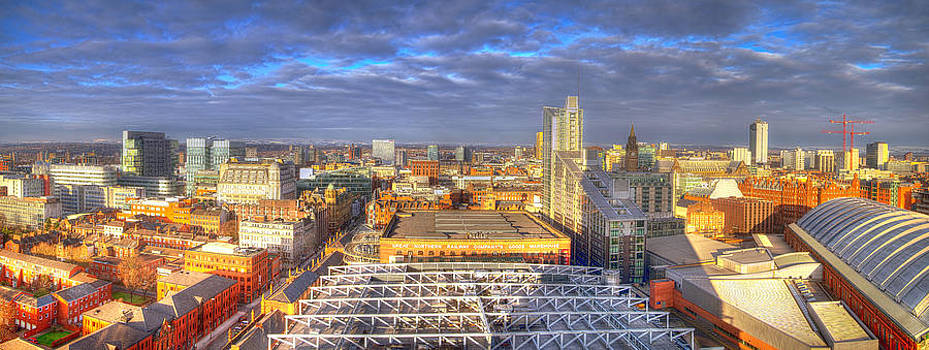 Manchester Skyline Panoramic HDR by Nick Field