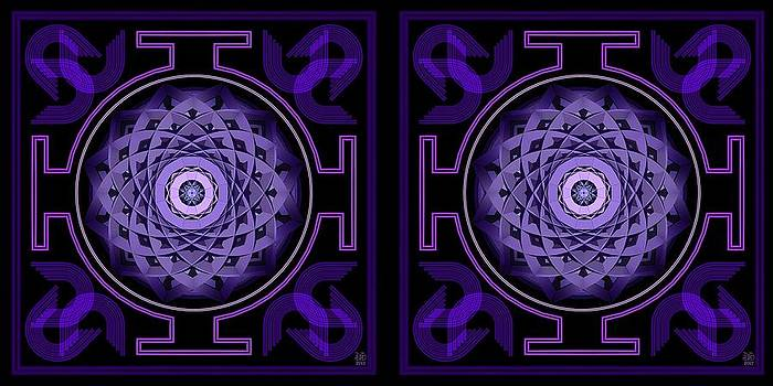 Mandala Hypurplectic - Stereogram by David Voutsinas
