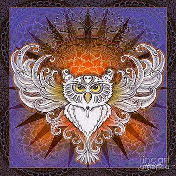 Mandala Owl by Julie Oakes