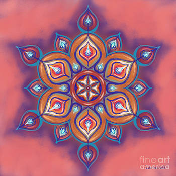 Mandala - Soft Pastel by Louise Lamirande