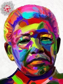 Mandela with an iPad  by Edward Ofosu