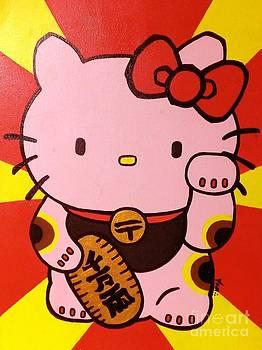 Maneki Hello Kitty by Jin Kai