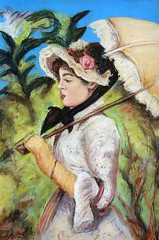 Manet Woman with Parasol by Melinda Saminski