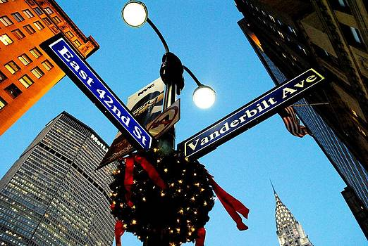 Manhattan 42nd Street NY at Christmas by Ron Bartels