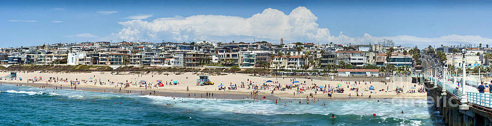 David Zanzinger - Manhattan Beach CA Ocean Waves Pier Panorama 2