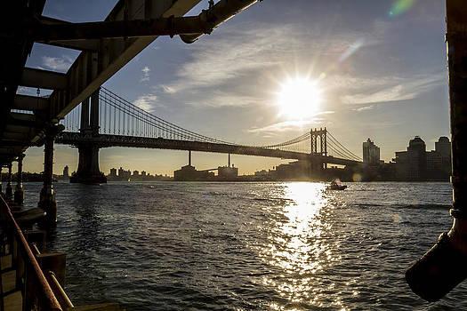 Manhattan Bridge Morning  by Tim Fitzwater