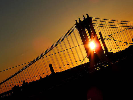 Manhattan Bridge Sunrise by Jessica Stiles