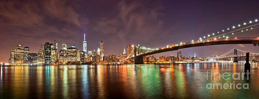 Manhattan from Brooklyn by Stacey Granger