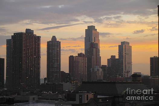 Manhattan Sky After Rain by E Williams