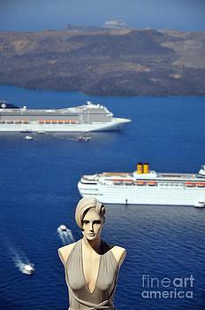 George Atsametakis - Mannequin doll in Santorini islandf