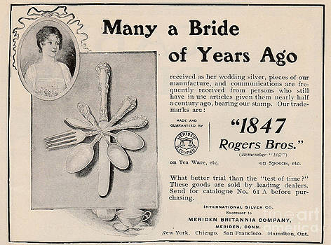Many a Bride Silver Ad by Paula Talbert