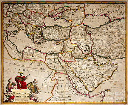 George Bernard - Map Of Ottoman Empire In 17th Century