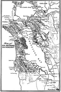 California Views Mr Pat Hathaway Archives - Map of San Francisco and Thereabout circa 1905
