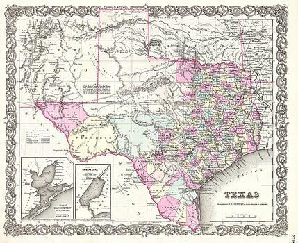 Joseph Hutchins Colton - Map of Texas