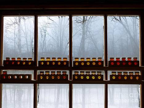 Christine Stack - Maple Syrup Grading Kits in a Sugarshack Window