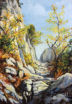 Marble path in the Autumn by Kiril Stanchev