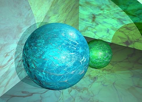 Marble Spheres 3d Abstract by BluedarkArt Lem