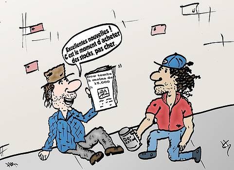 Marchands ambulants caricature by OptionsClick BlogArt