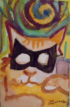 Mardi Gras Cat by James Christiansen