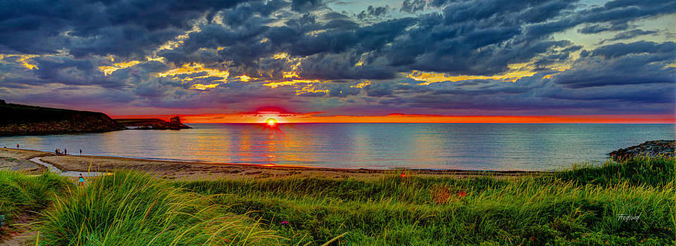 Margaree Harbour Sunset Nova Scotia by Fred J Lord