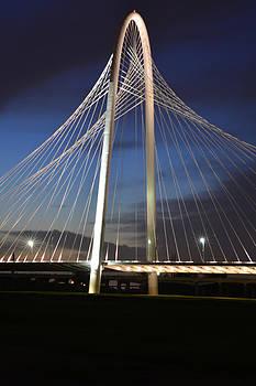 Margaret Hunt Hill Bridge at Night by Jim Martin