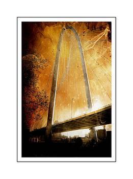 Margaret Hunt Hill Bridge Dallas Texas by Kathy Churchman