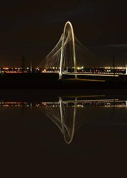 Margaret Hunt Hill Bridge - Reflected by Jim Martin