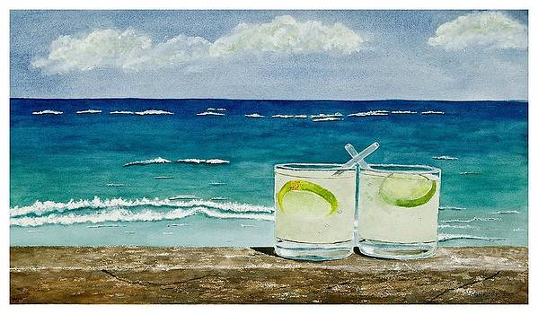 Margaritas in Tulum by Sharon Gerber