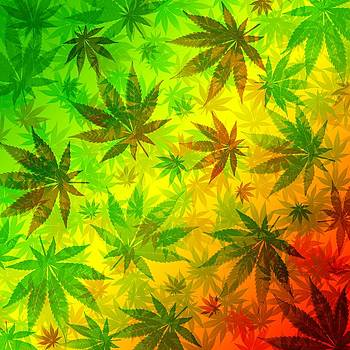 Marijuana Leaves Rasta Pattern by BluedarkArt Lem