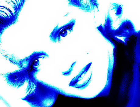 Mary Clanahan - Marilyn Monroe Blue Portrait Art