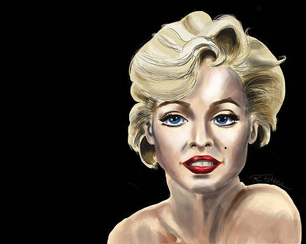 Marilyn Monroe Nude Shoulder Landscape by Rich Potter