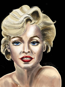 Marilyn Monroe Nude Shoulder by Rich Potter