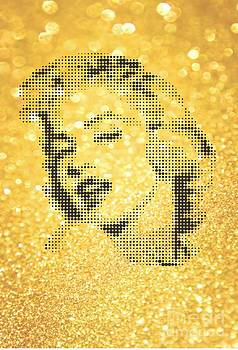 Marilyn Monroe On Yellow Powder by Rodolfo Vicente