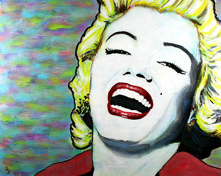 Marilyn Monroe Portrait Bright Laugh by Bob Baker