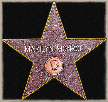 Marilyn Monroe's Star Painting  by Bob and Nadine Johnston